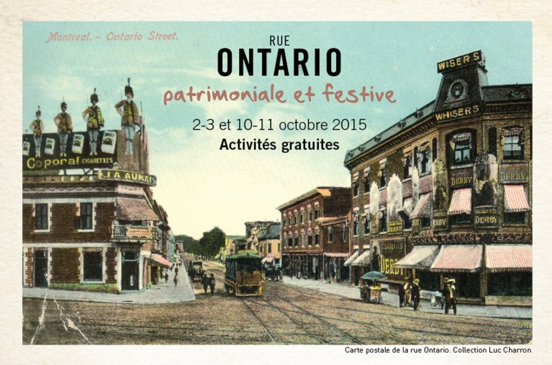Carte postale de la rue Ontario