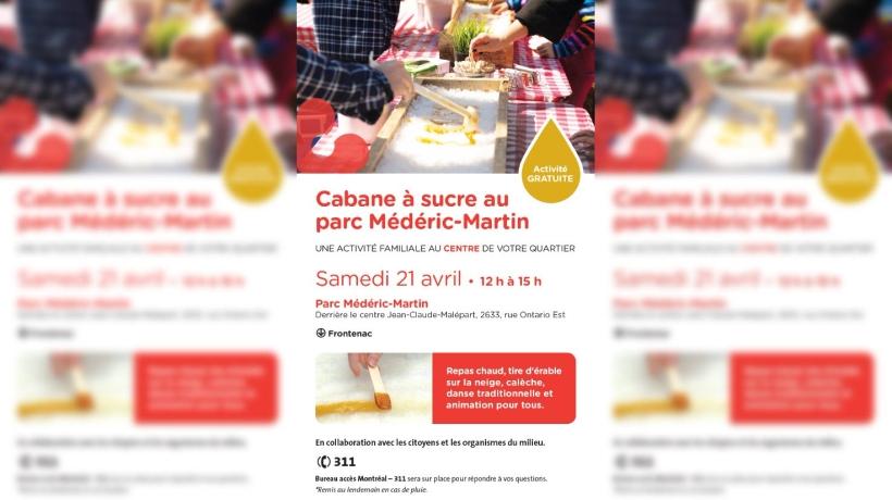 Cabane à sucre au parc Médéric-Martin - 21 avril 2018